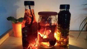 pot et bouteille automne