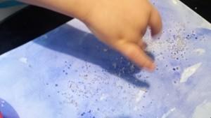 peinture encre et sel
